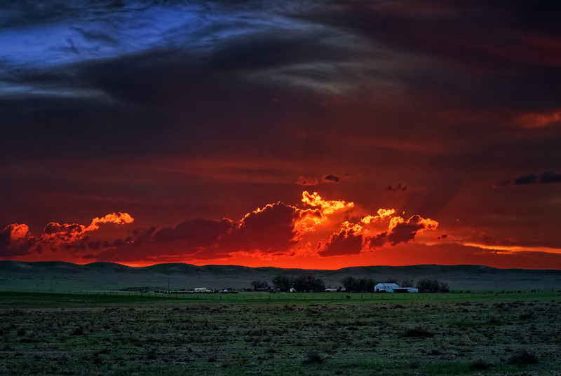 Spring Sunset on a Pawnee Ranch
