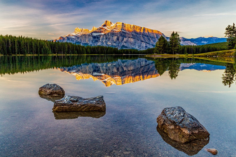 Perfect Reflection, Mt. Rundle, Banff, Canada