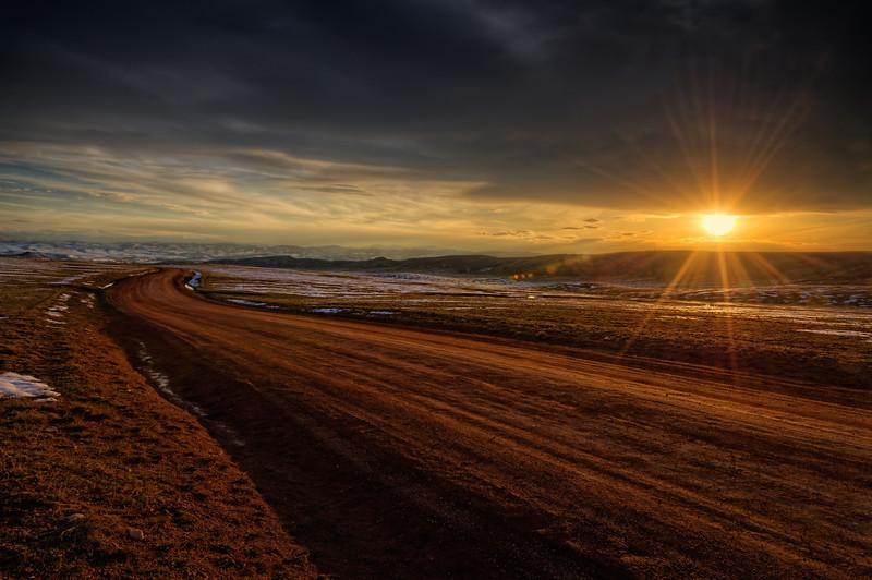 Sundown on the Laramie Foothills