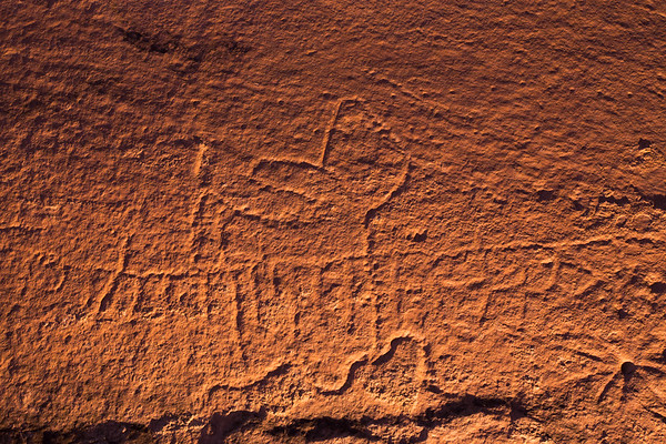 Cuvilinear petroglyph designs, Western Abstract Archaic, Utah