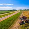 Rice Harvest on Highway 61