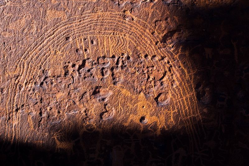 Solar interaction on the Winter Solstice, Rochester Creek petroglyphs, Emery County, Utah