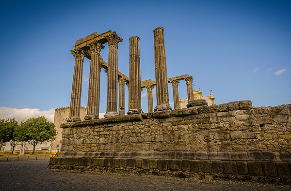 Portugal Roman Temple of Évora Fine Art Photography 2 By Messagez com