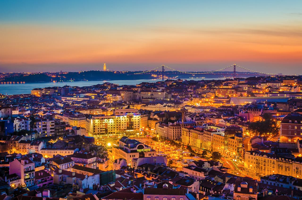 Original Lisbon City of Lights Photography By Messagez com