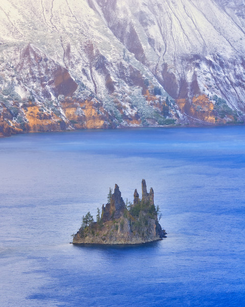 Phantom Ship Plying Crater Lake Winter Blues