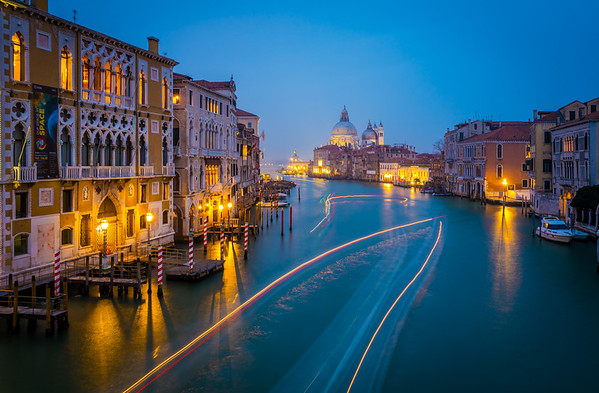 View from the bridge of Academia on Basilica of Santa Maria, Venice