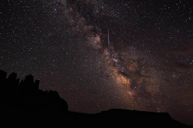 Flare in the Milky Way over Utah