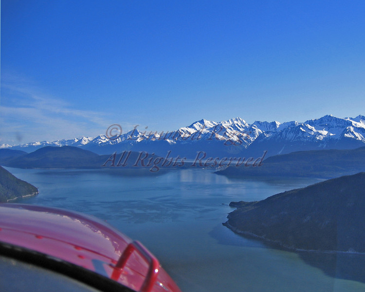 Flying over Glacier Bay NP