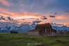 Teton barn sunset