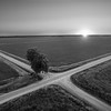 Crossroad Sunrise (BW)
