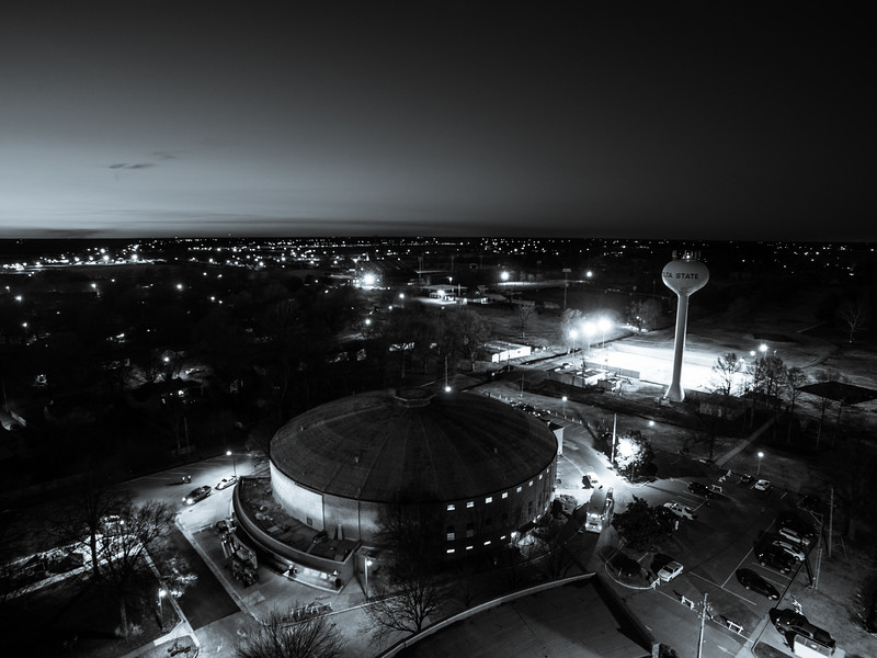 Dusk at the Colliseum (BW)