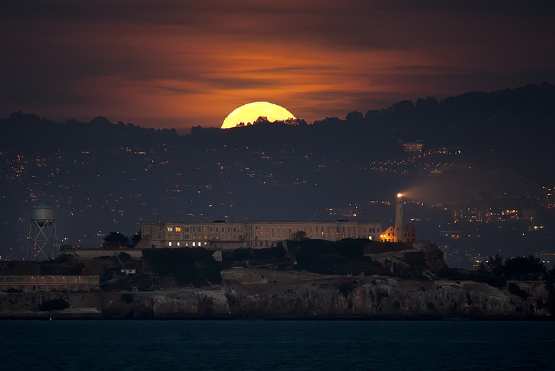 Moonrise over Alcatraz