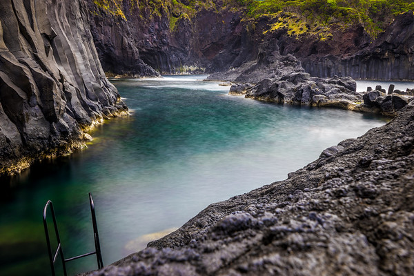 Unique Sao Jorge Island Ocean Pool in Azores Photography By Messagez com