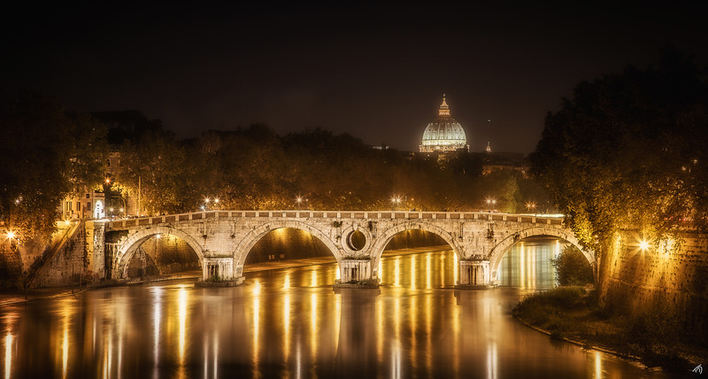 Tiber River at Night