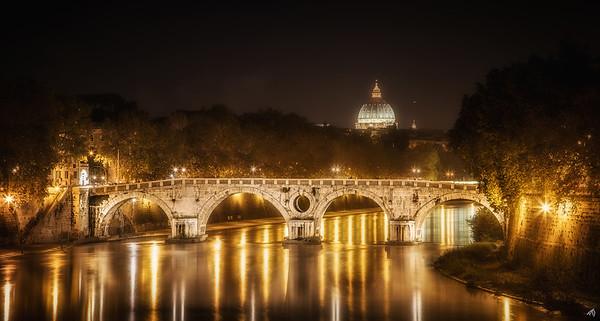 Tiber River at Night