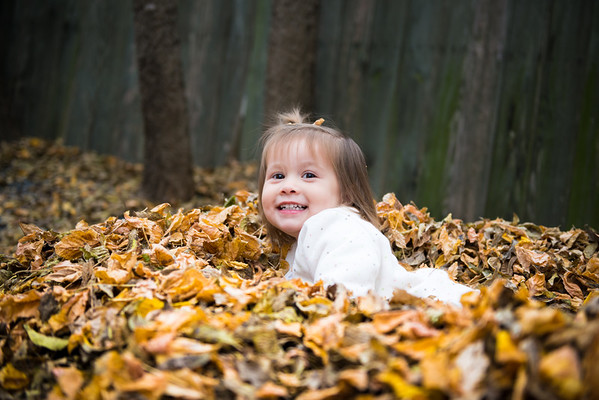 Cerie Playing in the Leaves