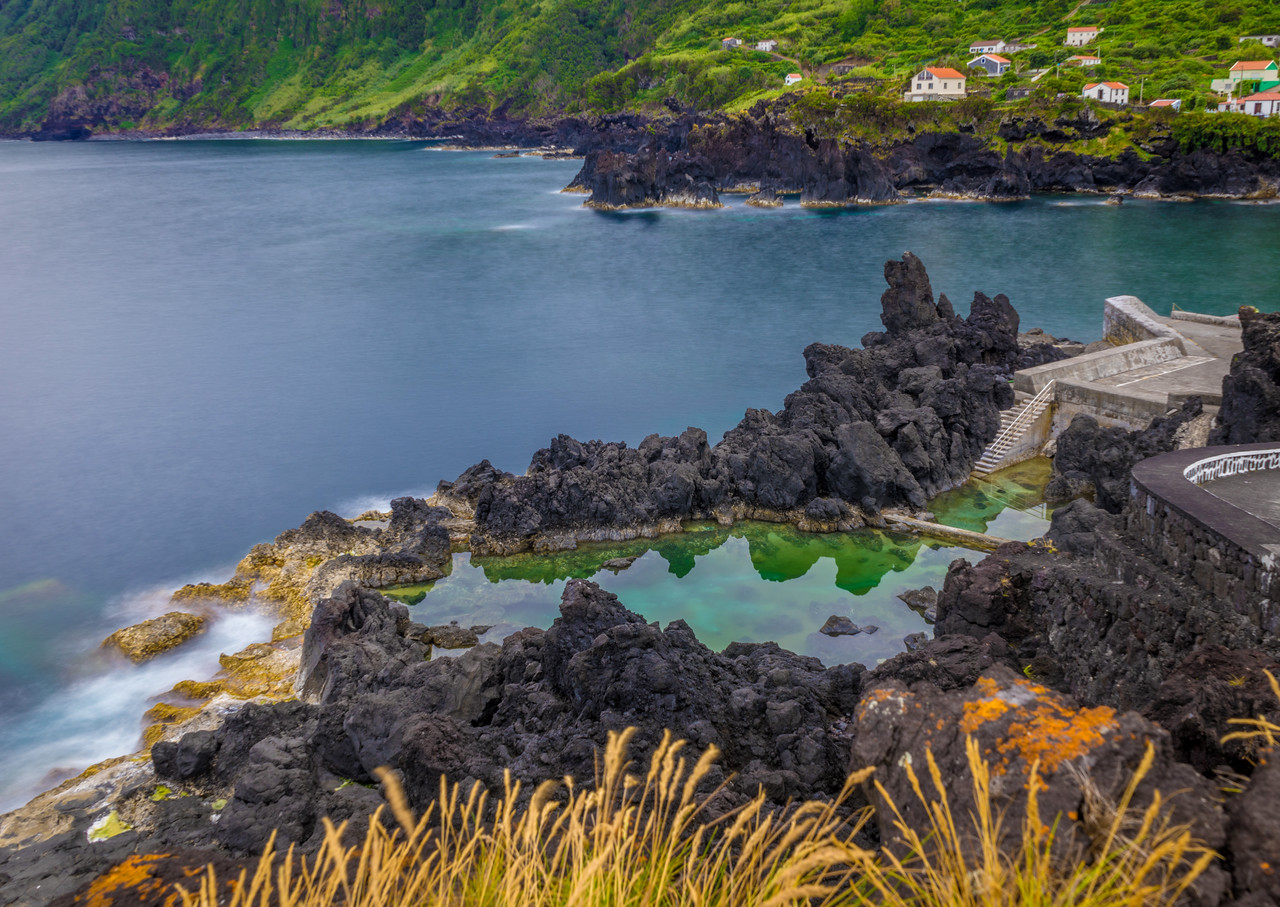 Amazing Sao Jorge Island Ocean Pool in Azores Photography By Messagez com