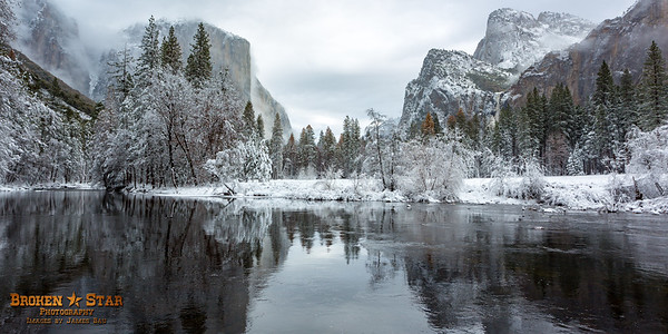 Yosemite Valley View Reflections