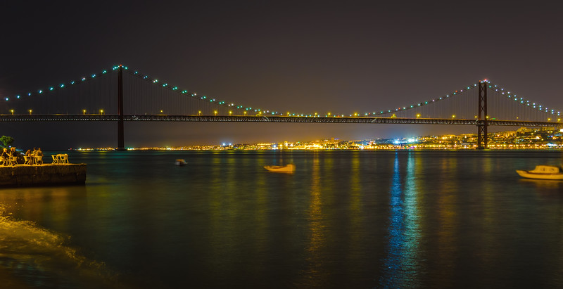 Original Lisbon 25th of April Bridge Landscape Photography By Messagez com