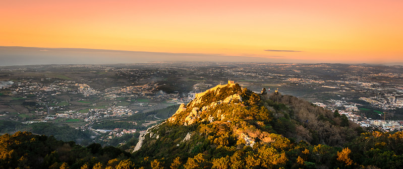 Original Sintra Castle at Sunset Photography By Messagez com