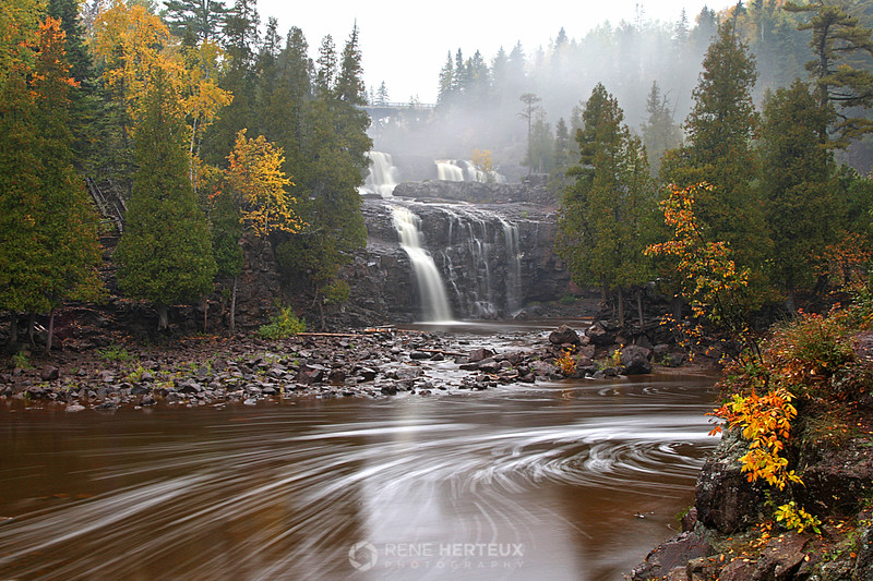 Gooseberry falls with fall colors