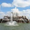 Buckingham fountain, Chicago Marathon day Oct. 2005