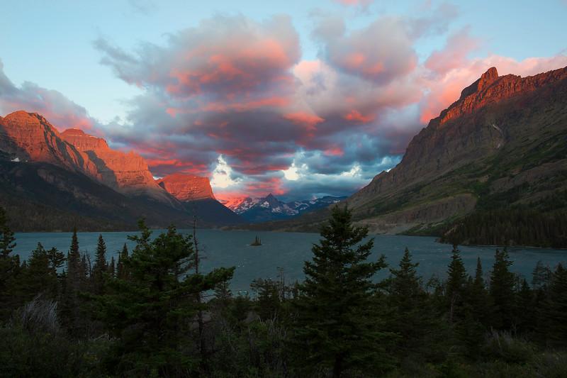 St Mary sunrise, Glacier National Park