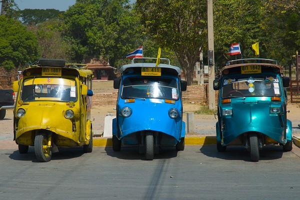 Taxis at Ayutthaya