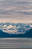 Glacier Bay under cloudy skies