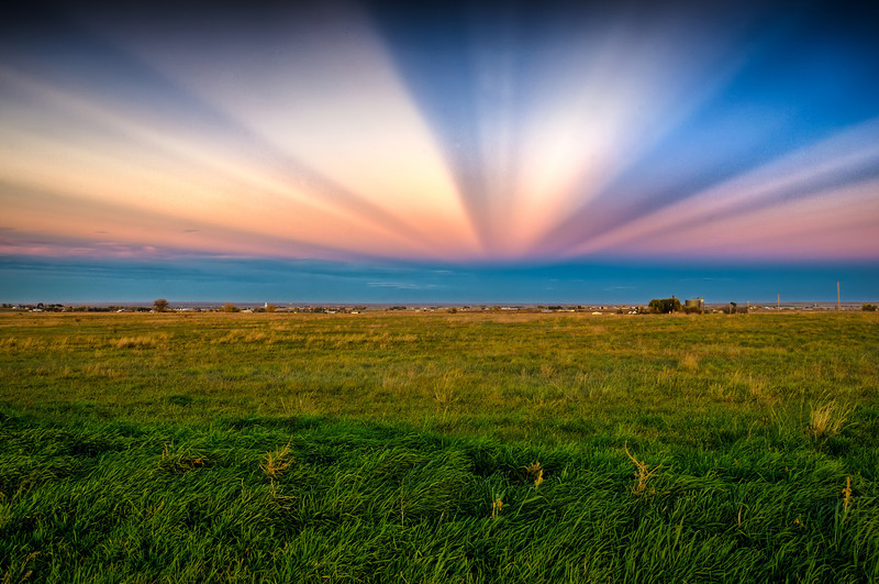 Anti-crepuscular Rays on Colorado Plains