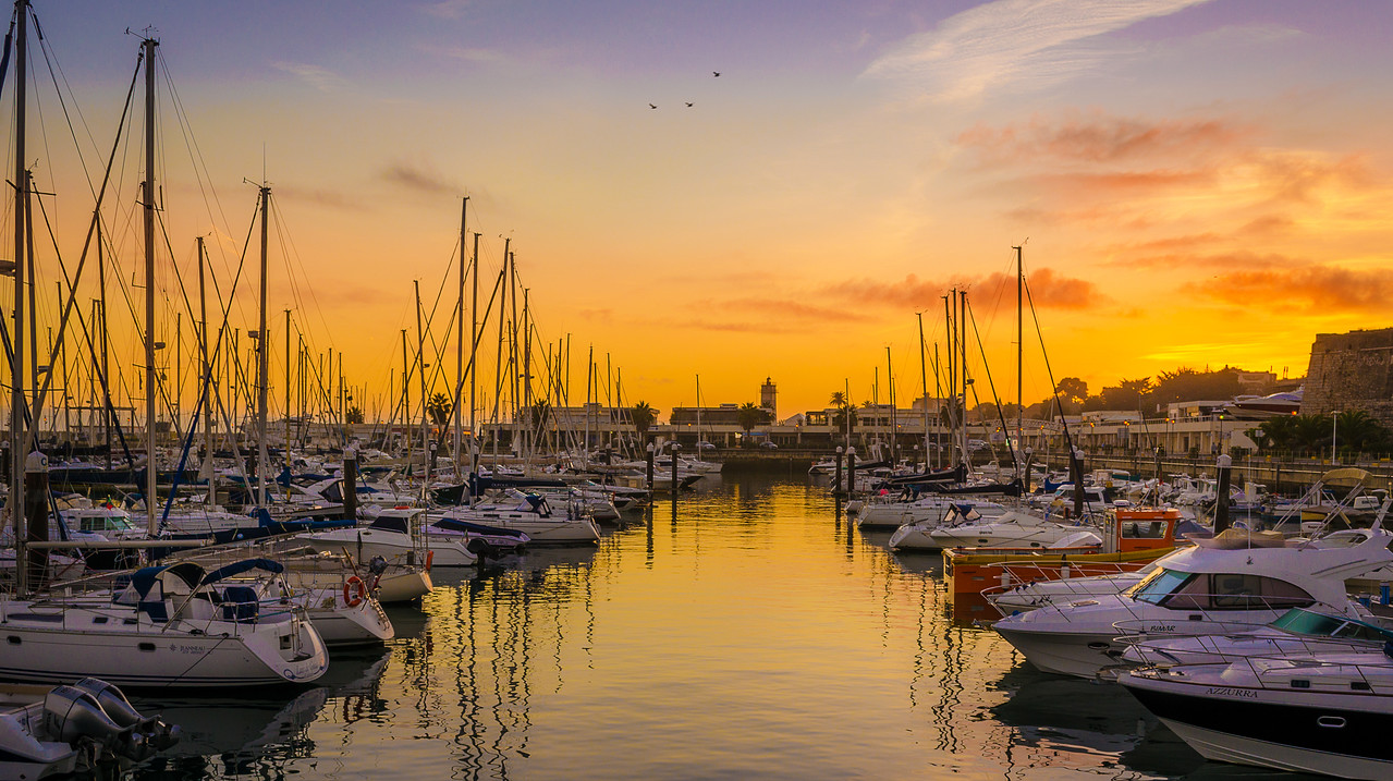 Original Portugal Cascais Marina Sunset Photography By Messagez com