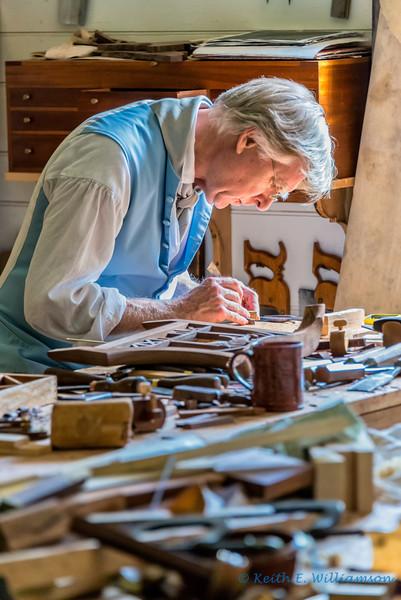 Cabinet maker, Colonial Williamsburg