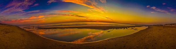 Portugal Lisbon Beach Sunset Panorama Photography By Messagez.com