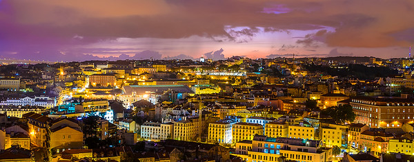 Lisbon Beauty at Night Photography By Messagez com