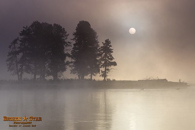 Sunrise by the Yellowstone River @ Alum Creek.  Yellowstone National Park