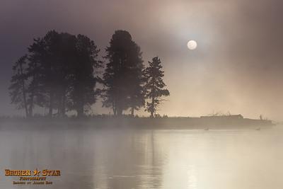 Sunrise by the Yellowstone River @ Alum Creek.  Yellowstone National Park