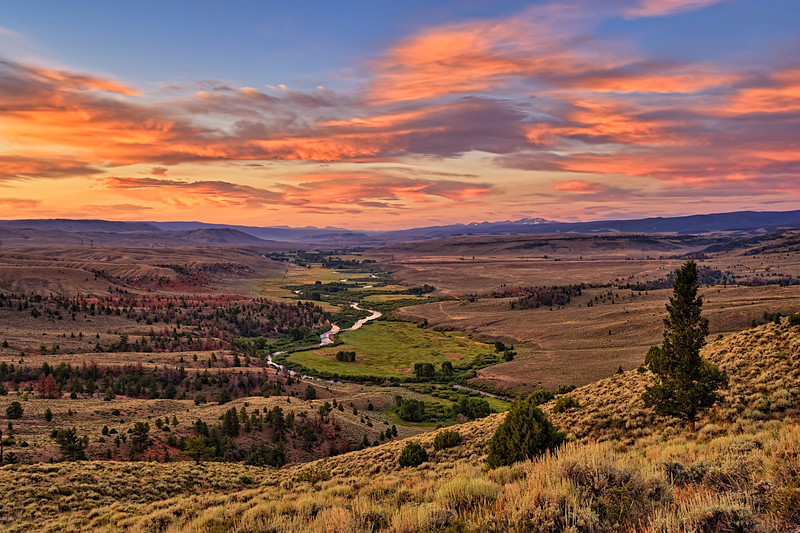 Morning Glow on the Laramie