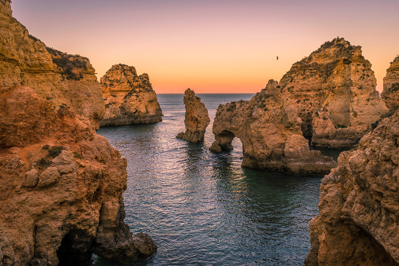Portugal Algarve Magical Coast at Sunset Photography 2 Messagez com