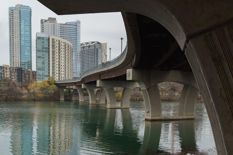 Austin - Lamar pedestrian bridge