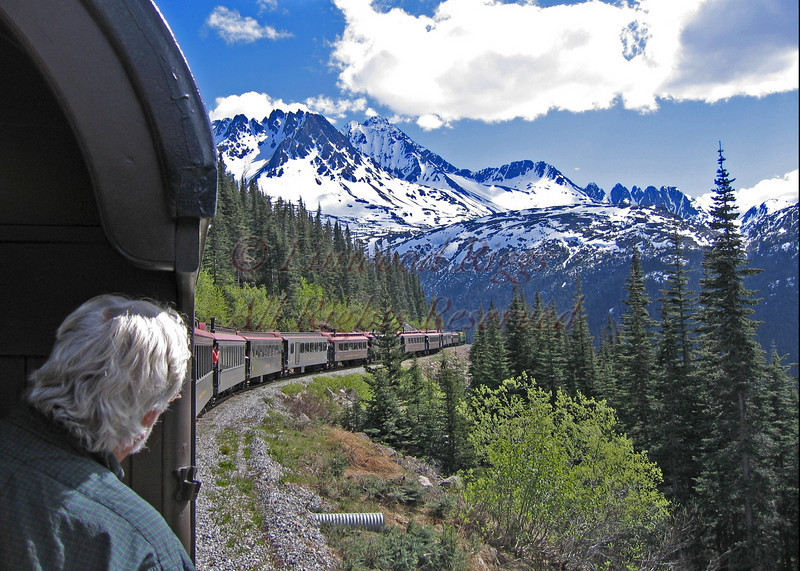 Headed for Skagway on the White Pass and Yukon RR