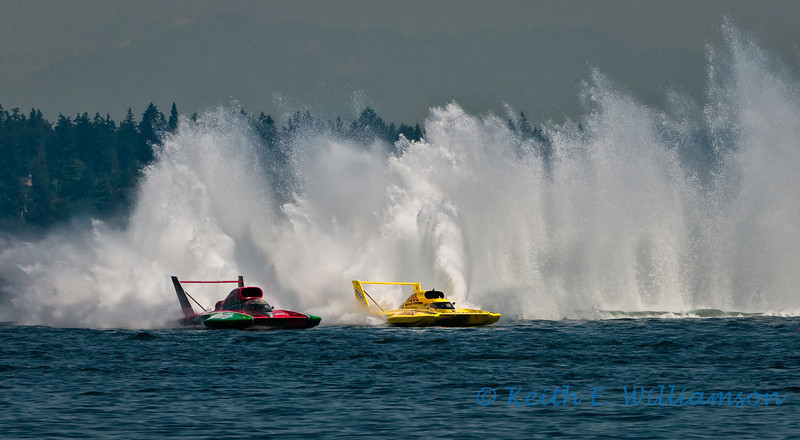 Hydroplane Racing, Lake Washington, Seattle