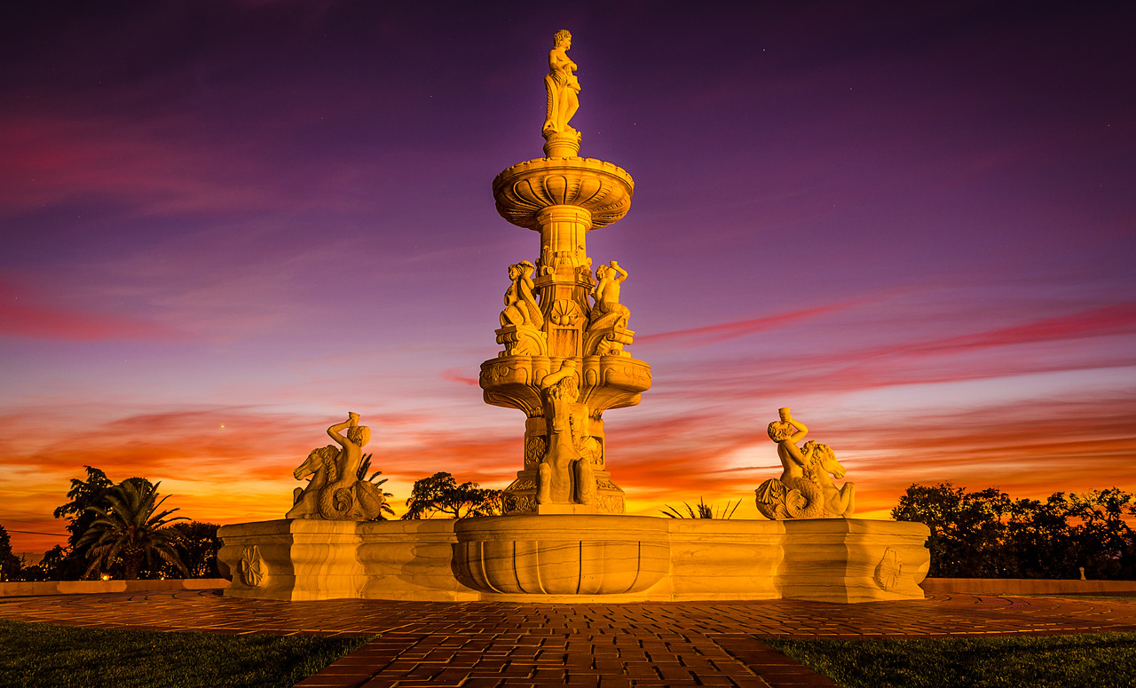 Fountain of Love at Sunset