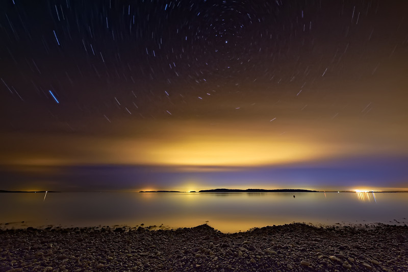 Celestial Spinning Above the San Juan Islands