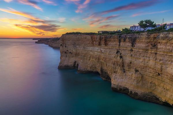 Sunset Peaceful Beauty Algarve Landscape Photography By Messagez com