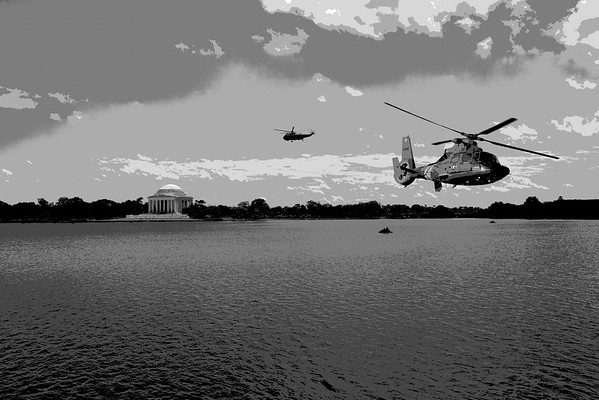 Helicopters over DC
