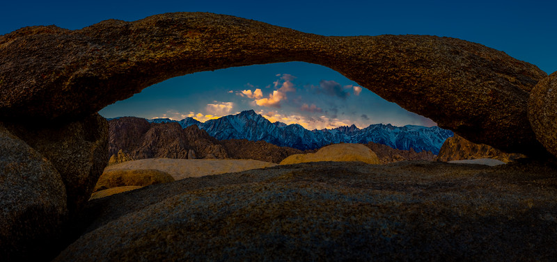 Lone Pine Peak Through Lathe Arch