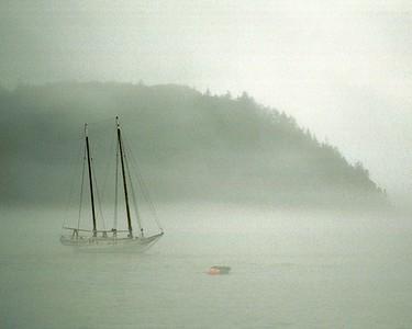 Sail Boat off Porcupine Islands, Bar Harbor Maine