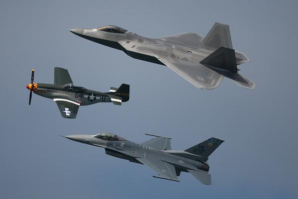 F22 Raptor, F-16 Falcon, P-51 Mustang