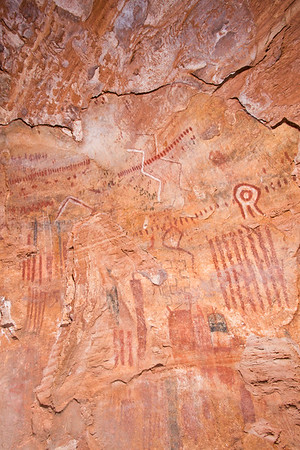 Polychromatic rock art, Desert Archaic, Escalante / Grand Staircase National Monument, Garfield County, Utah (4)