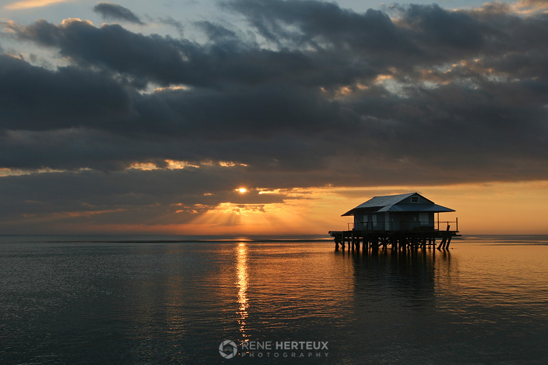 North Captiva fishhouse and sunrise